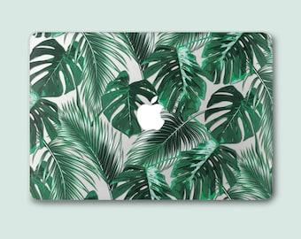 Tropical Leaf MacBook Pro 13 Hard Case MacBook 12 inch Case for MacBook Air 11 Laptop Cover Monstera Mac Case MacBook Air Clear Case CC2037