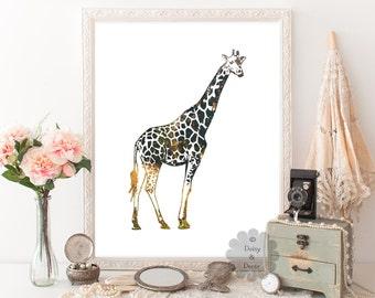 Giraffe - home decor, nursery print, boy nursery art, girl nursery decor, baby shower, giraffe print, nursery decor, nursery animal, art