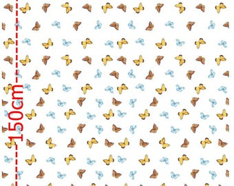 Cotton jersey deer border on both sides of the child fabric rapport 80 cm