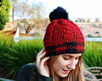 Crochet Pattern: Knit-like Cable Hat *waistcoat *easy *fast *adjust to any size hat *adult *women *men