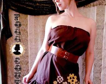 Gear skirt or sundress steampunk