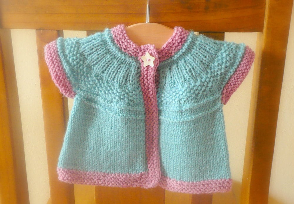 Knitting Pattern Cardigan Sweater - Seren Top Down Seamless Yoked (6 ...