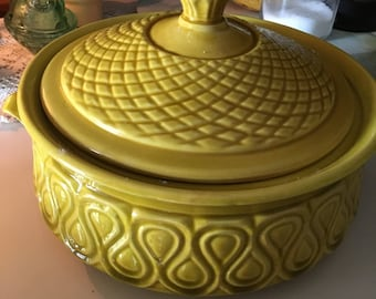 Vintage Mustard Yellow Soup Tureen