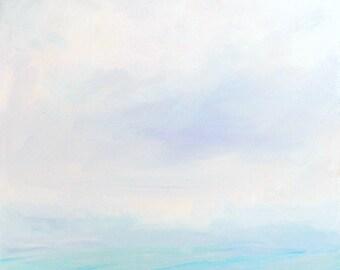 Waves and sky ocean print of original oil painting