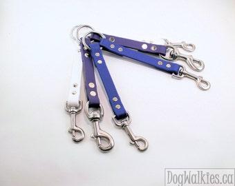 Double Dog Walker - Leash coupler for 2 dogs - Two dogs on one leash - Leash Splitter - Biothane Leash Splitter