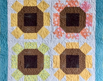 Sunny sunflower Quilted Wall-Hanging/ Table Runner