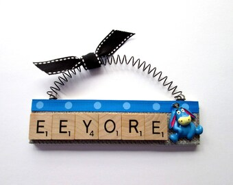 Eeyore  Scrabble Tile Ornament