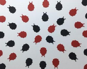 Ladybug Confetti - Red and Black Ladybug Confetti - Ladybug Birthday Party - Ladybug Baby Shower - Girl Birthday Party Decor - Bug Decor