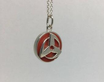Kakashi / Obito Sharingan  Pendant in Sterling Silver