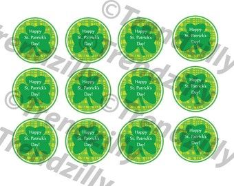 St Patrick's Day Cupcake Toppers, St. Patricks Day Party Decor, St Patty's Cupcake Topper, St Patricks Party Signs, Printable download.