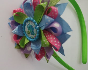 Monsters Inc Headband, Mike Sulley Wasowski Headband, Monsters Inc Birthday, Monters Inc Party
