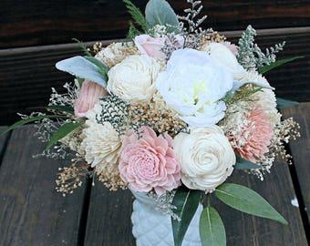 Large Floral Arrangement, Wedding Reception Centerpiece, Sola Flowers, Silk Cottage Roses, Faux Flowers, Home Decor, Baby Shower