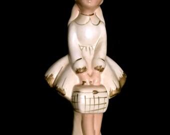 Vintage 50's Pony Tail Girl Figurine                VG2350