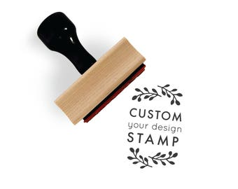"Custom Rubber Stamp, 1.5"" x 2"" Size 