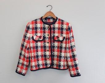 Vintage 90s retro gingham jacket by Beldan