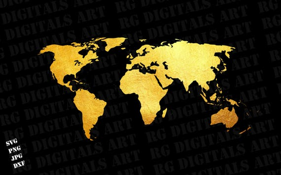 Gold world map svg gold world map svg clipart silhouette gold world map svg gold world map svg clipart silhouette gold world map vector digital download svg png dxf cricut cut files from cleansvg on etsy studio gumiabroncs Image collections