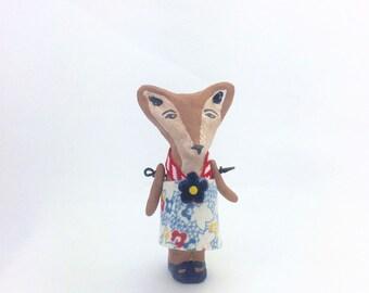 Vintage Inspired, Penny Doll, Ooak, Fox