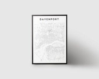 Davenport Map Print
