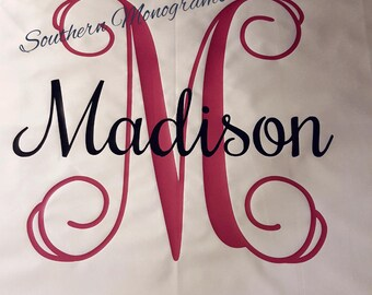 Monogrammed Pillowcase - Personalized Pillowcase - Monogrammed Gift - Birthday Gift - Wedding Gift