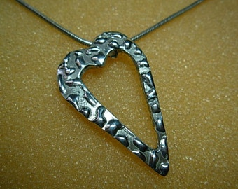 Heart Pendant .925 sterling silver, with chain.
