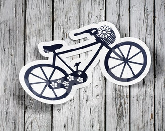 SVG - bike with basket and flowers