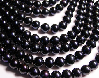 Fresh water  Pearls 9mm - full strand - 43 beads/pearl - dark blue
