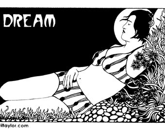 Dream Sticker by Wil Taylor