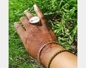 Wired Cowrie Shell Ring (Cowry Ring)