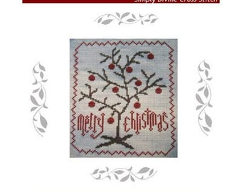 PDF E pattern emailed Primitive Christmas Tree Cross Stitch Pattern 107