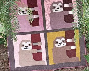 Sleepy Sloth by Elizabeth Hartman - Paper Printed Pattern
