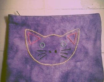 Happy Kitty Face Make-up Bag