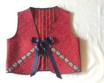 Handmade Child Boy Girl Renaissance Medieval Vest Costume Festival size 14 Adjustable