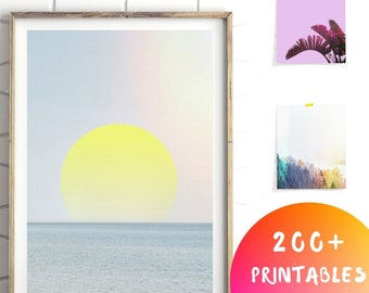Abstract Sea Print, Minimalist Abstract Decor, Abstract Sea Art, Modern Coastal Print, Modern Seascape Art,Coastal Wall Art,Modern Sea Print
