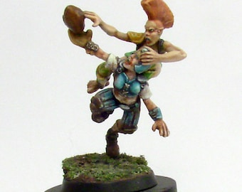 Blood Bowl Wood Elf vs. Human Duel Unique Sculpted & Painted display miniature diorama