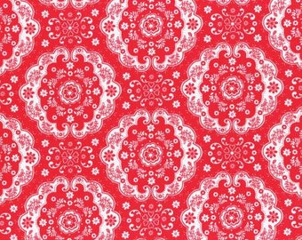 Flower Sugar 2015 Fall Collection Cotton Fabric Lecien 31272-30 Red Doile