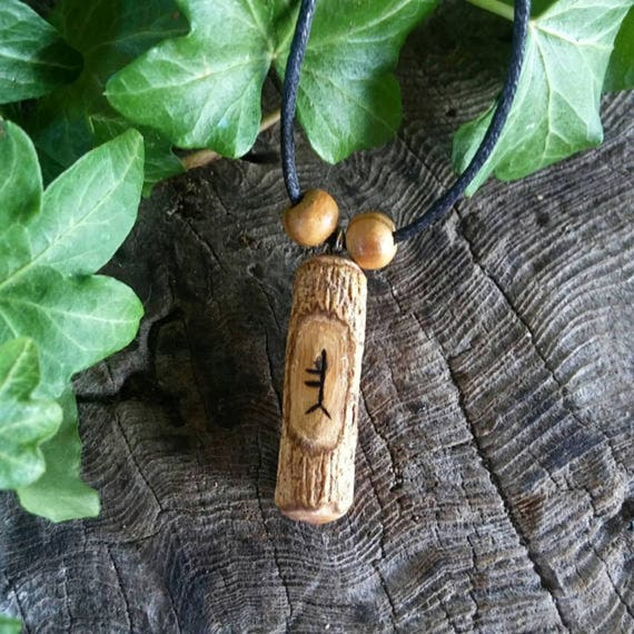 Ogham Birth Pendants – Oak – Wood – Ogham – Pendant – Necklace – Druid -  Pagan – Celtic – Witchcraft – Gift for Men – Gift for Women