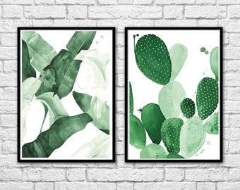 2 Art-Posters 30 x 40 cm Limited Edition 50 ex. - Duo plants and cactus