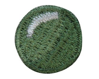 ID 3202 Lot of 3 Green Circles Dot Patches Marble Embroidered Iron On Applique