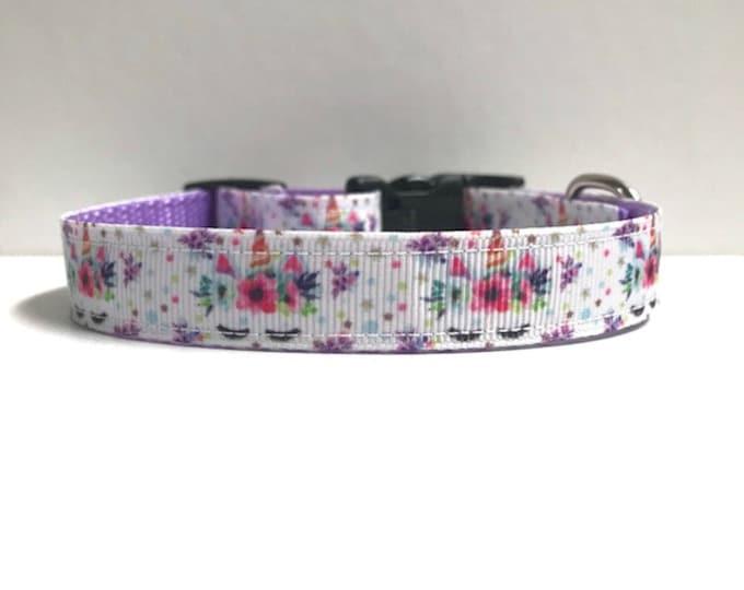 "5/8"" Unicorn & Floral Collar"