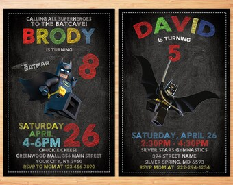 Lego Birthday Invitation , Lego Photo Invitation , Batman Birthday Invitation , Lego Invitation , Batman , Lego Party , Lego Batman , Invite