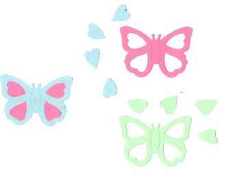 8 Butterfly cutout cut out Insect Paper Piecing, Outdoor, Collage
