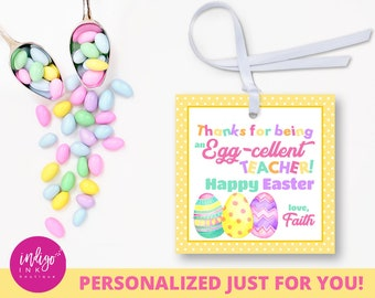 Easter gift tags for kids happy easter tags easter thank personalized teacher easter tags easter gift tags customized favor tag easter thank you tag easter printables party favor tags negle Images