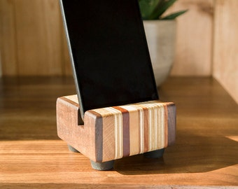 30% OFF Mixed Wood Dock for iPhone / Android / Samsung / HTC / Huawei / Sony / LG / Mobile Phone Stand / Christmas / Stocking Filler / Xmas