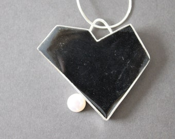 Sterling Silver and Resin Cubisy Heart