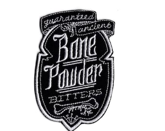 Apothecary patch bone powder patch  Iron to Sew on Badge