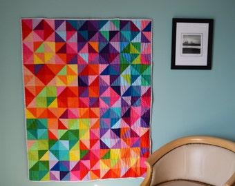 Patchwork Prism Modern Quilt. Made to Order