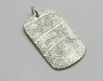 Fingerprint Jewelry, Fingerprint Dog Tag, Sterling Silver Dog Tag, Fingerprint Necklace, Men's Jewelry, Gift for Men, Personalized