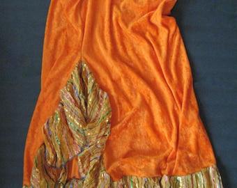 Bellydance skirt, orange bellydance