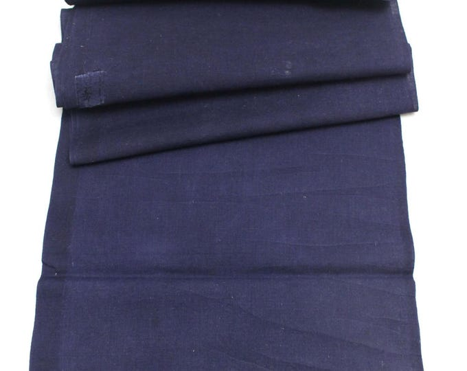 Japanese Indigo Cotton. Artisan Aizome Boro Textile. Blue Vintage Folk Fabric (Ref: 1757D)