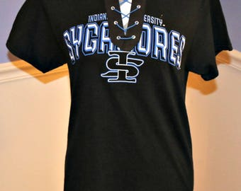 Indiana State Lace Up T-Shirt